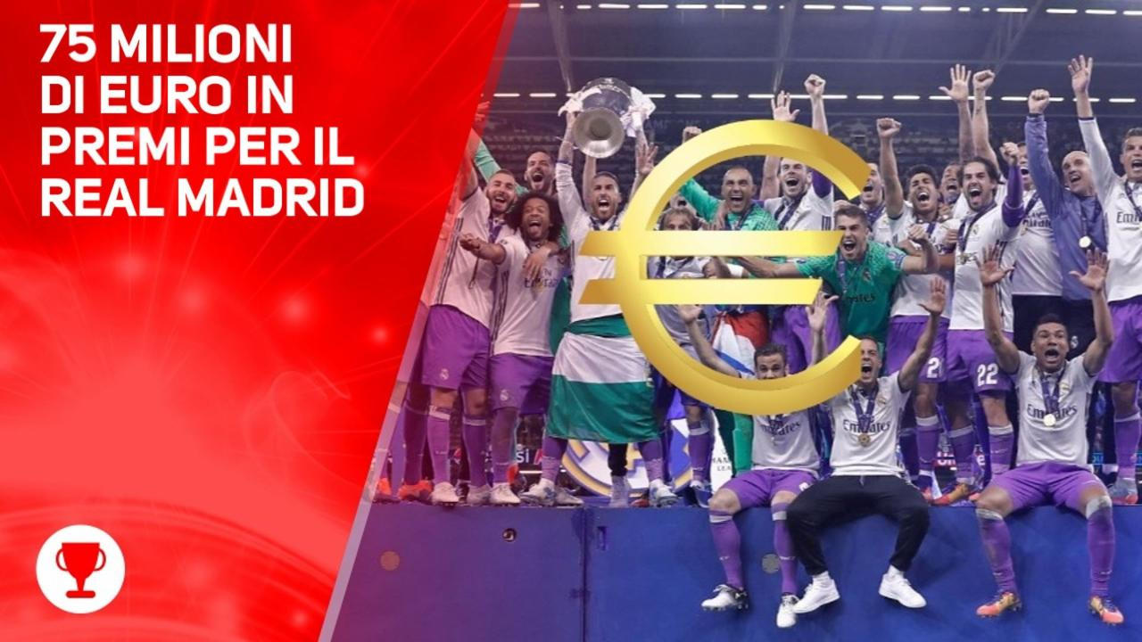 Un bottino da 75 milioni per il Real Madrid